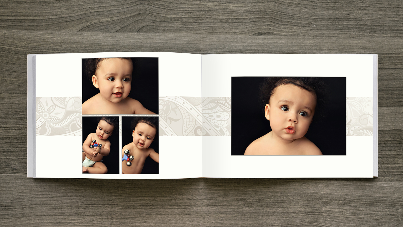 newborn album design