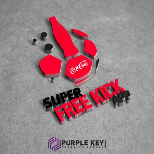 Free kick Coca-Cola app logo